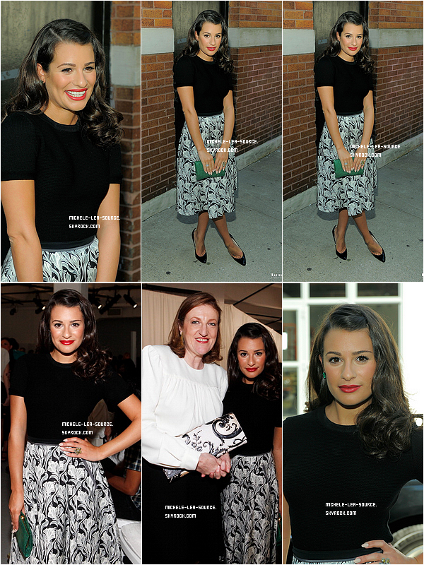.   09/09/2011 : Lea a assisté au défilé Jason pour la Fashion Week, à NY.     .