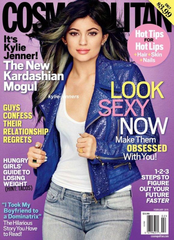 la sublime Kylie fait la couverture du magazine Comospolitan février 2015 !