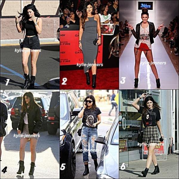 Quelles tenues de Kylie au style 'rock' préfère-tu le plus?