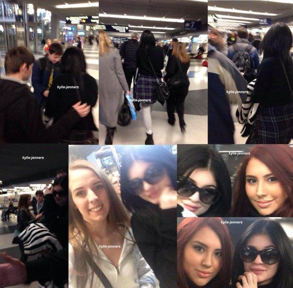 le 23 janvier 2015 - Kylie arrivant à l'aéroport de Chicago