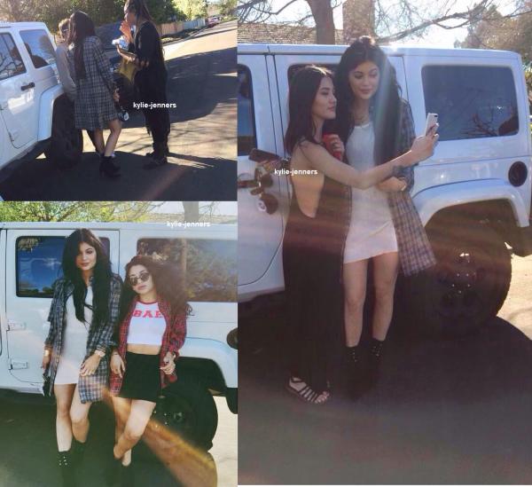 le 31 janvier 2015 - kylie a passer la journer avec ses amie