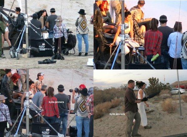 le 5 février 2015 - Kylie pendant un photoshoot en Californie
