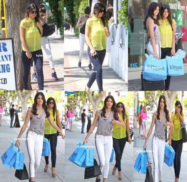 le 14 juillet 2012 - kylie et kendall ont était veut faire du Shopping Hollywood