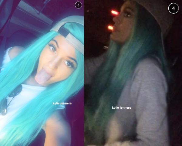 Kylie dans le Snapchat de Stas