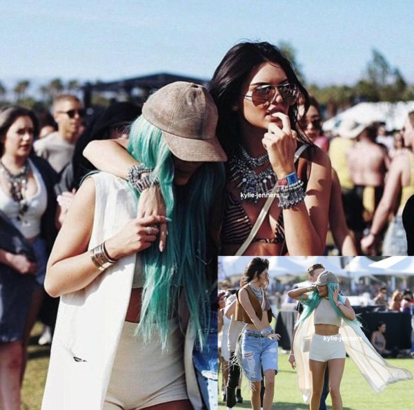 le 10 avril 2015 - Kylie et kendall au Coachell Valley Music & Art Festival à Indio, en Californie