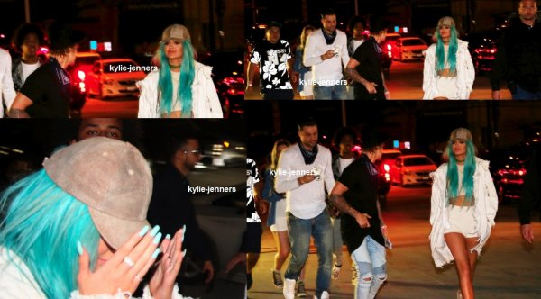 le 10 avril 2015 - Kylie et Justin arriver à Coachella Madhouse Beacher after party à Indio