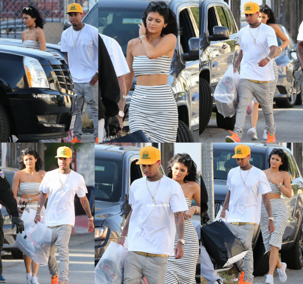le 14 avril 2015 - kylie et Tyga aller faire du shopping à West Hollywood, en Californie.
