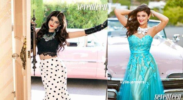 """voici un photoshoot de kylie pour """" Seventeen Magazine en 2012"""