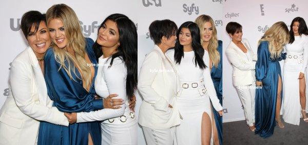 le 14 mai 2015- la princesse Kylie sa mere et sa demi soeur kloé au NBCUniversal câble Divertissement Upfront à New York
