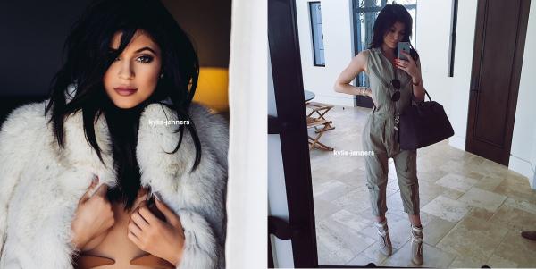 voici deux nouvelle photo personelle de kylie poster sur compte instagran