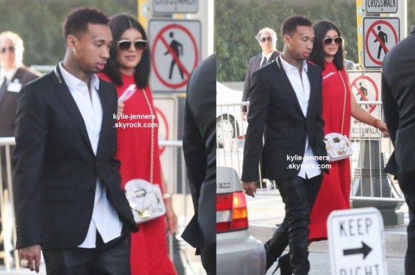 le 8 juin 2015 - Kylie et Tyga arrivant à la première de la dope de film