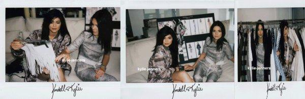polaroïds de kylie et Kendall pour kendall-kylie.com