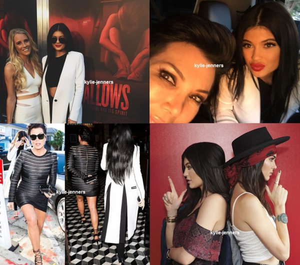 le 7 juillet 2015 - Kylie et Kris à Premiere 'The Gallows de Los Angeles