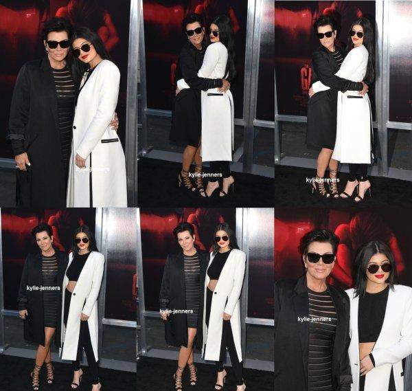 le 7 juillet 2015 - Kylie et Kris à Premiere 'The Gallows de Los Angeles