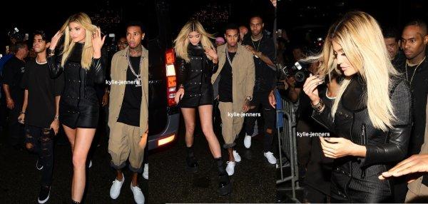 le 12 septembre 2015 - Kylie et Tyga diriger vers le spectacle Alexander Wang à New York
