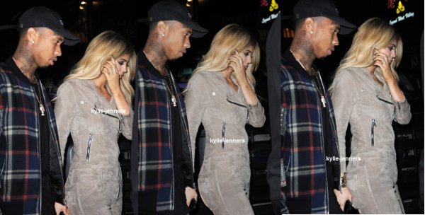 le 13 septembre 2015 - Kylie laissant Jeffrey à New York