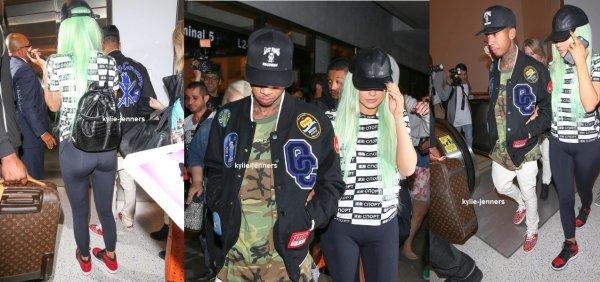 le 17 septembre 2015 - Kylie et Tyga arrivant à LAX