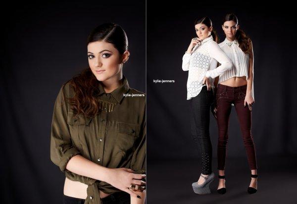 voici un photoshoot de kylie et kendall pour Carmar Lookbook 2012