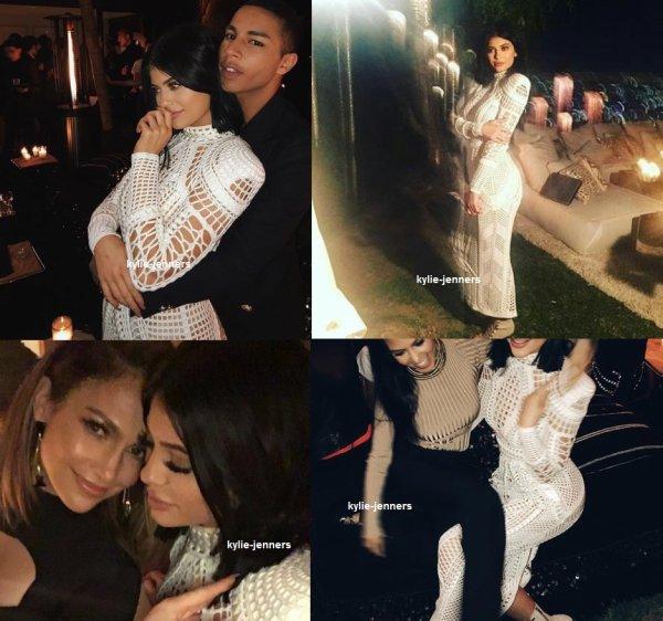 le 23 octobre 2015 - Kylie à la fête d'anniversaire de Olivier