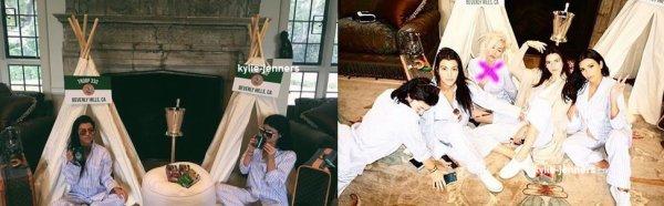 le 25 octobre 2015 - Kylie et Kourtney dehors et environ à Beverly Hills, CA