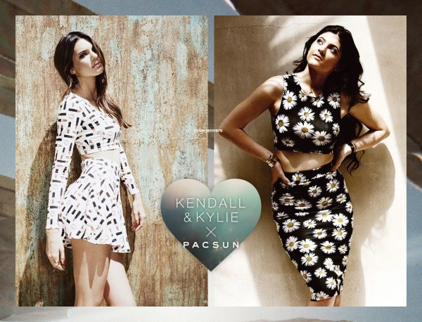 voici un photoshoot de kylie et kendall pour PacSun Holiday Collection 2013