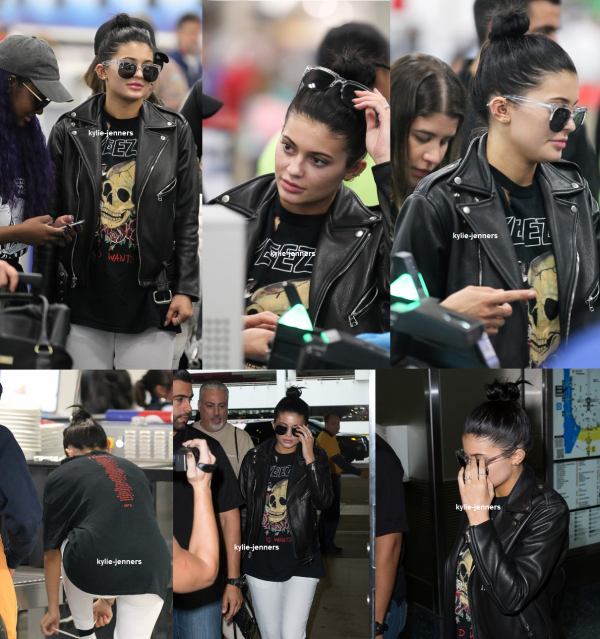 le 7 decembre 2015 - Kylie a été vue à l'aéroport de Miami