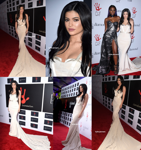 le 10 décembre 2015 - la princesse kylie aux the diamond ball à los angeles