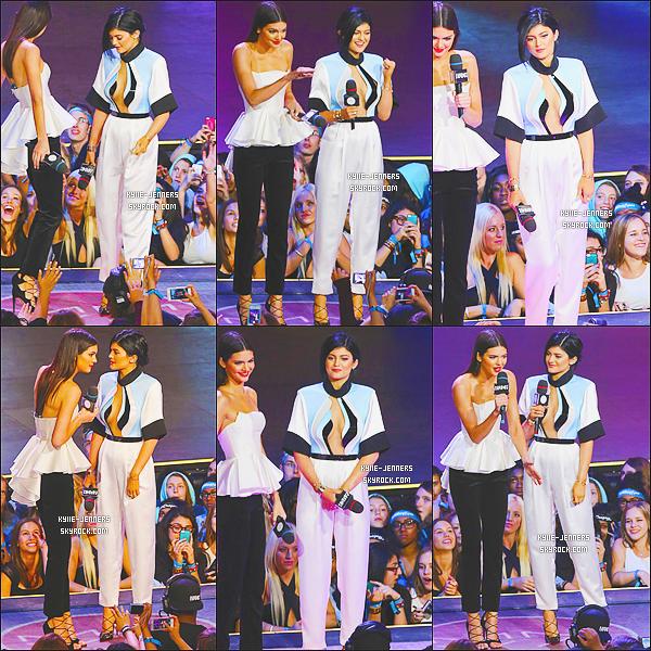 le 15 juin 2014 - la princesse kylie et sa soeur kendall sont allées au MuchMusic Video Awards pour animé la cérémonie.