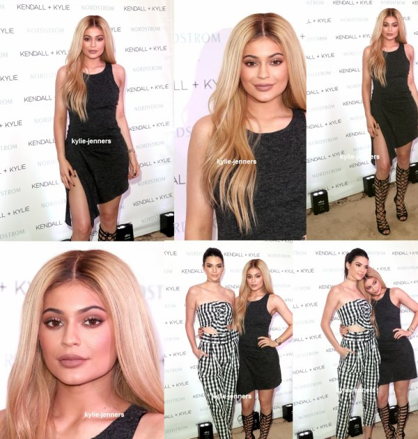 le 24 mars 2016 - la princesse kylie et sa soeur kendall pour leur collection à nordstrom priver à los angeles