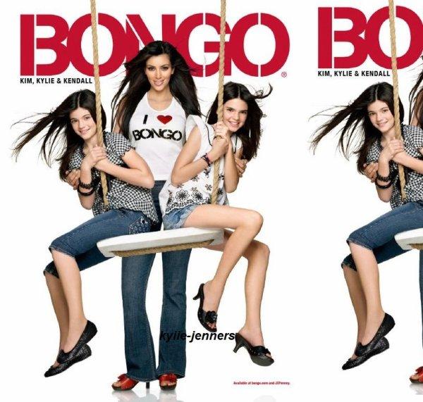 voici un photoshoot de kylie kendall et kim pour bango 2009