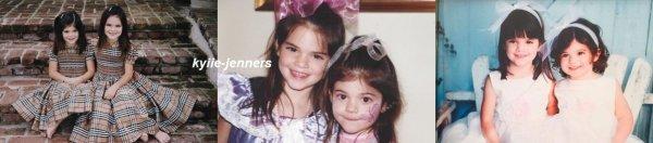 voici des photo de kylie quand elle était petite
