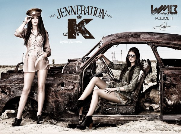 voici un photoshoot de kylie et kendall pour WMB 3D: World's Most Beautiful (Nick Saglimbeni) 2013