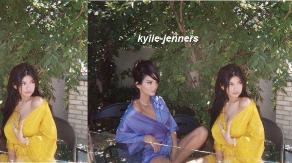 voici une photo de kylie et sa soeur kendall pour un nouveau shoot