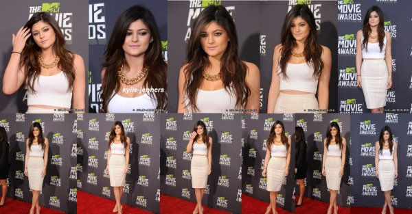 le 14 avril 2013 - kylie à la MTV Movie Awards