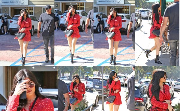 le 14 aout 2017 - la manifique kylie arriver à la Tramezzino à Beverly Hills