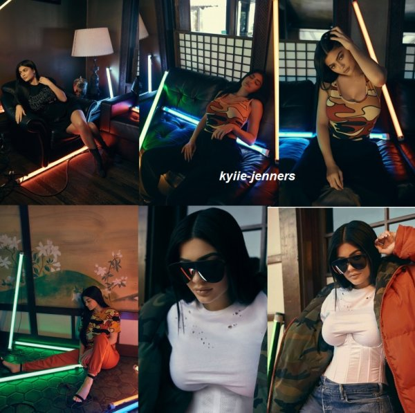 voic un nouveau photoshoot de kylie pour Kendall + Kylie DropThree Collection