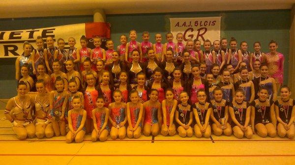 Etape départementale de la CF + Championnat départemental des ensembles = 80 gymnastes de La Blésoise