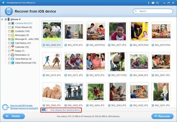 How to Recovery Lost/Deleted Data from iPhone iPad iPod