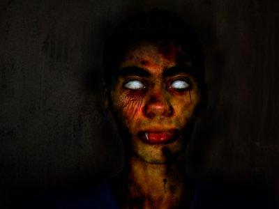 Moi en zombie xD