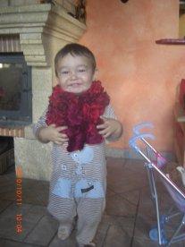 Quand Tom met l'écharpe a maman