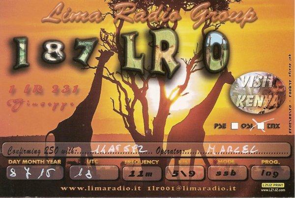 QSL DE LA 207 AT 364 OP ERIC / ILE ST MARTIN /127SD001/187 LR/0