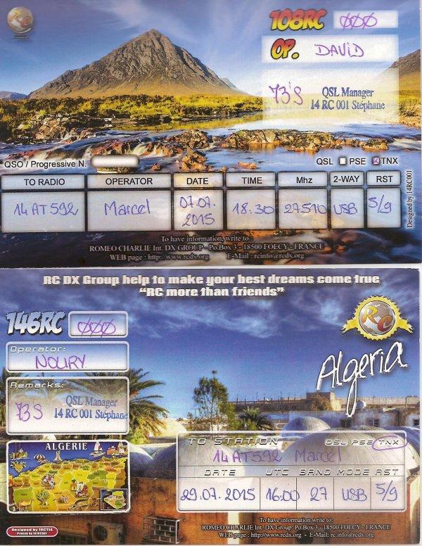 QSL RX DE LA 73 /69 /108 /146 /328 /14