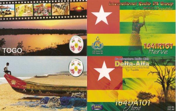 QSL RX DE LA 216SD/DX OP DOMINIQUE  / 164 IR 101 /164 DA 101 OP HERVE
