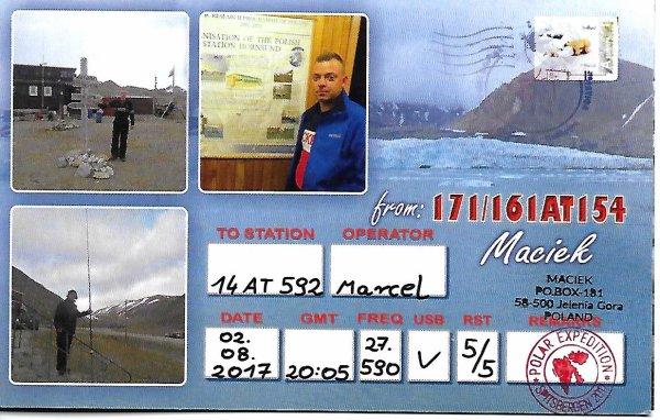 QSL RESU DE LA 171/161AT 154 /DIVISION SVALBARD