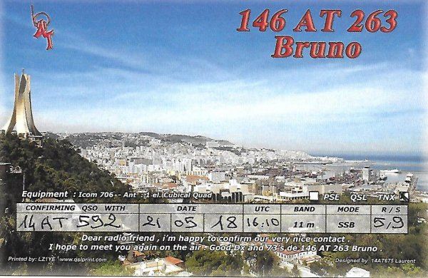 146 AT 263  OP BRUNO / ALGERIA /
