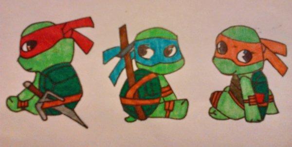 Tortues Ninja Chibi Dessins De Chibis