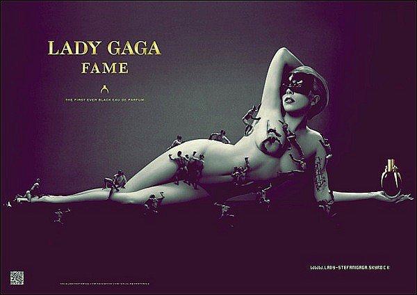 """...........Affiche Promotionnelle / 16 Juillet  ............Gaga vient de dévoiler l'affiche promotionnelle de son nouveau parfum """"Fame"""" , je vous ais aussi mis une vidéo qui illustre la composition de sa fragrance « FAME » créée par la « Haus Laboratories » ! ."""