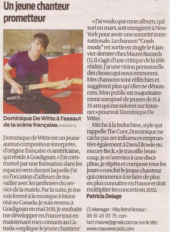 Journal SUD-OUEST ...  27 janvier 2012  ... Bordeaux