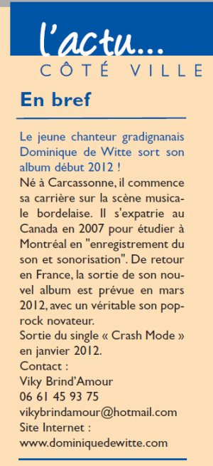 Journal ''Ensemble'' - Gradignan - Janvier 2012