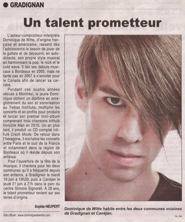 LE COURRIER FRANCAIS - Article de presse - 15 juin 2012